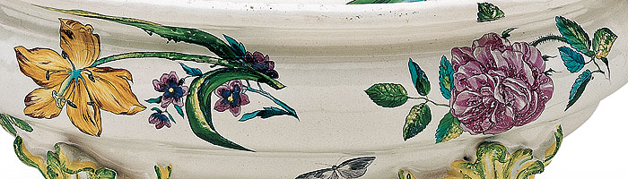 Picture: Tureen with flower decoration, detail
